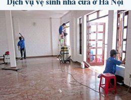 Dịch Vụ Vệ Sinh Nhà Cửa ở Hà Nội